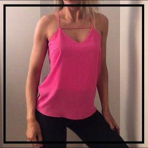 Stylish Bright Pink Tank Top Blouse